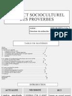 L'ASPECT SOCIOCULTUREL DES PROVERBES
