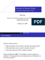 A Brief Overview of Neural Coding