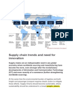 1.3 Supply chain trends and need for innovation