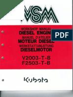 Kubota v2003 руководство по обслуживанию