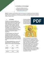 La fonética y la fonología