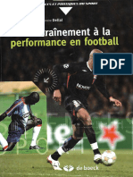 De l'Entrainement a La Performannce en Football