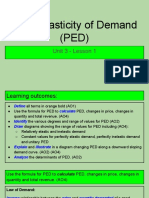 unit 3 - lesson 1 - price elastiicty of demand