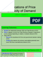 unit 3 - lesson 2 - applications of price elasticity of demand