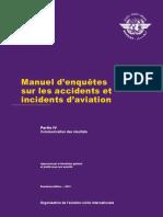 9756_p4_cons_fr    Manuel OACI d'enquetes sur les accidents et incidents d'aviation
