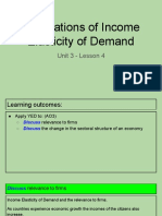 unit 3 - lesson 4 - applications of income elasticity of demand