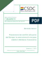 Quaderni CSDC 1 2011