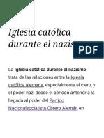 Iglesia Católica Durante El Nazismo - Wikipedia, La Enciclopedia Libre