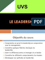 Cours Leadership UVS 2017