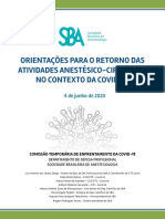 Orientacoes para o retorno das atividades anestesico-cirurgicas no contexto da covid-19