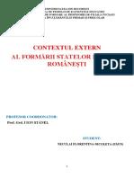 Contextul extern al formării statelor feudale românești