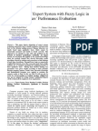 Application of Expert System with Fuzzy Logic in Teachers' Performance Evaluation