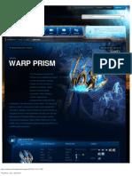 Warp Prism-Unit Description - Game - StarCraft II