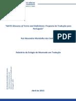 NATO Glossary of Terms and Definitions - Proposta de Tradução para Português_Alexandre Santos_30819 -