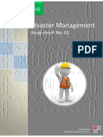 Disaster Management-Assignment No. 01