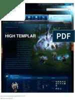 High Templar-Unit Description - Game - StarCraft II