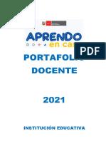 PORTAFOLIO DOCENTE 2021