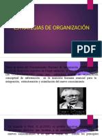 ESTRATEGIAS DE ORGANIZAC DELCONOCIMIENTO