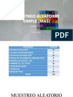 MUESTERO ALEATORIO SIMPLE