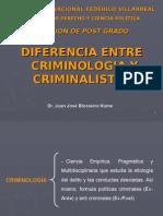 Diferencias entre criminologia y criminalistica