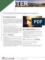 Catalogue Master 2021-2025 - Philosophies Contemporaines Et Plurielles