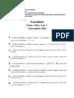 ROSE Matematica Clasa a XI-A Gr. 1 3 Decembrie 2020