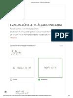 Evaluación Eje 1 Cálculo Integral  area andina