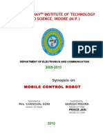 synopsis on mobile control robot