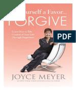 Hazte un favor a ti mismo Perdona Joyce Meyer