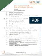 Preguntas de Apoyo Para El Curso de CertiProf Certified ISO Auditor _ Lead Auditor - PDF Descargar Libre
