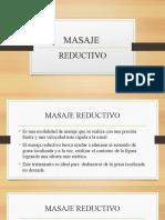MASAJE REDUCTIVO - PIEDRAS CALIENTES