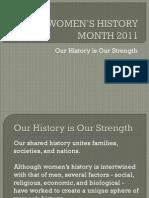 Women's History Month Presentation