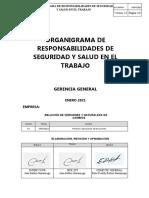 ORGANIGRAMA DE RESPONSABILIDADES EN MATERIA SST