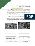 PRIMEIRA GUERRA MUNDIAL - TRABALHO DISSEERTATIVO