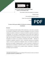 CARIAGA,R. Un marco teórico para analizar el rol docente en entornos de aprendizaje virtualizados