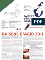 Festival Raisons d'agir 2011, Poitiers, France