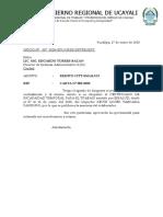 OFICIO Nº 007 DESCANSO MEDICO