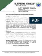 AUTO SUB. DIRECT N° 005 - TRANSPORTES CUMBAZA