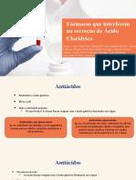 MEDICAMENTOS QUE INTERFEREM NA SECREÇÃO DE ÁCIDO CLORÍDRICO