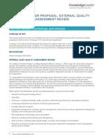 External Quality Assessment Review RFP