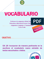 Lenguaje 6°, 22 de junio Vocabulario