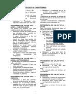 Formulário CÁLCULO DE CARGA TÉRMICA