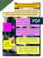 DECRETO 67 CÓMO TRABAJAR CRITERIOS DE LOGRO CON LOS Y LAS ESTUDIANTES I