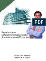 CV Proyectista de Estructuras Metálicas Senior - Nicolas Papini