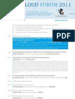 Agenda CLOUD FORUM 2011