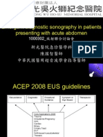 Emergent Diagnostic Sonography in Patients Presenting With Acute Abdomen