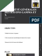 PROPRIÉTÉ GÉNÉRALES DES RAYONS GAMMA ET new