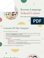 Korean Language School Center by Slidesgo