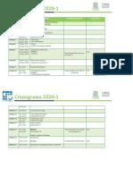 Cronograma Biología IA 2020-1