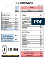 Planilha Financeira - Primo Pobre
